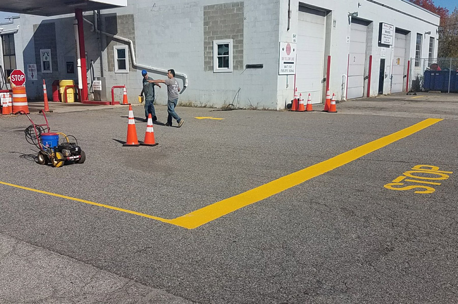PARKING LOT LINES STRIPING